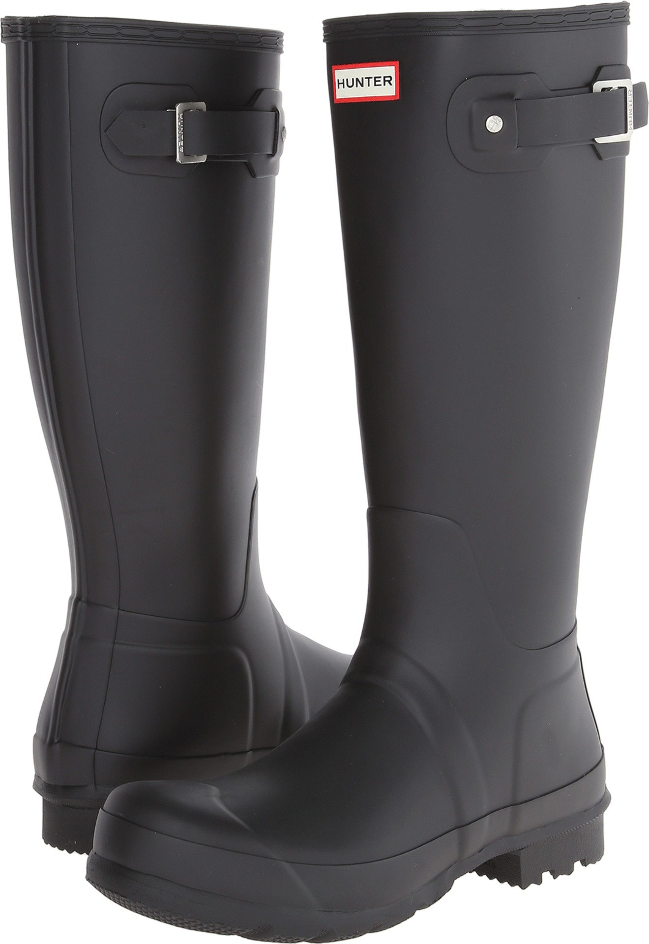 Hunter Men's Original Tall Rain Boots Black 8 M US by Hunter (Image #1)