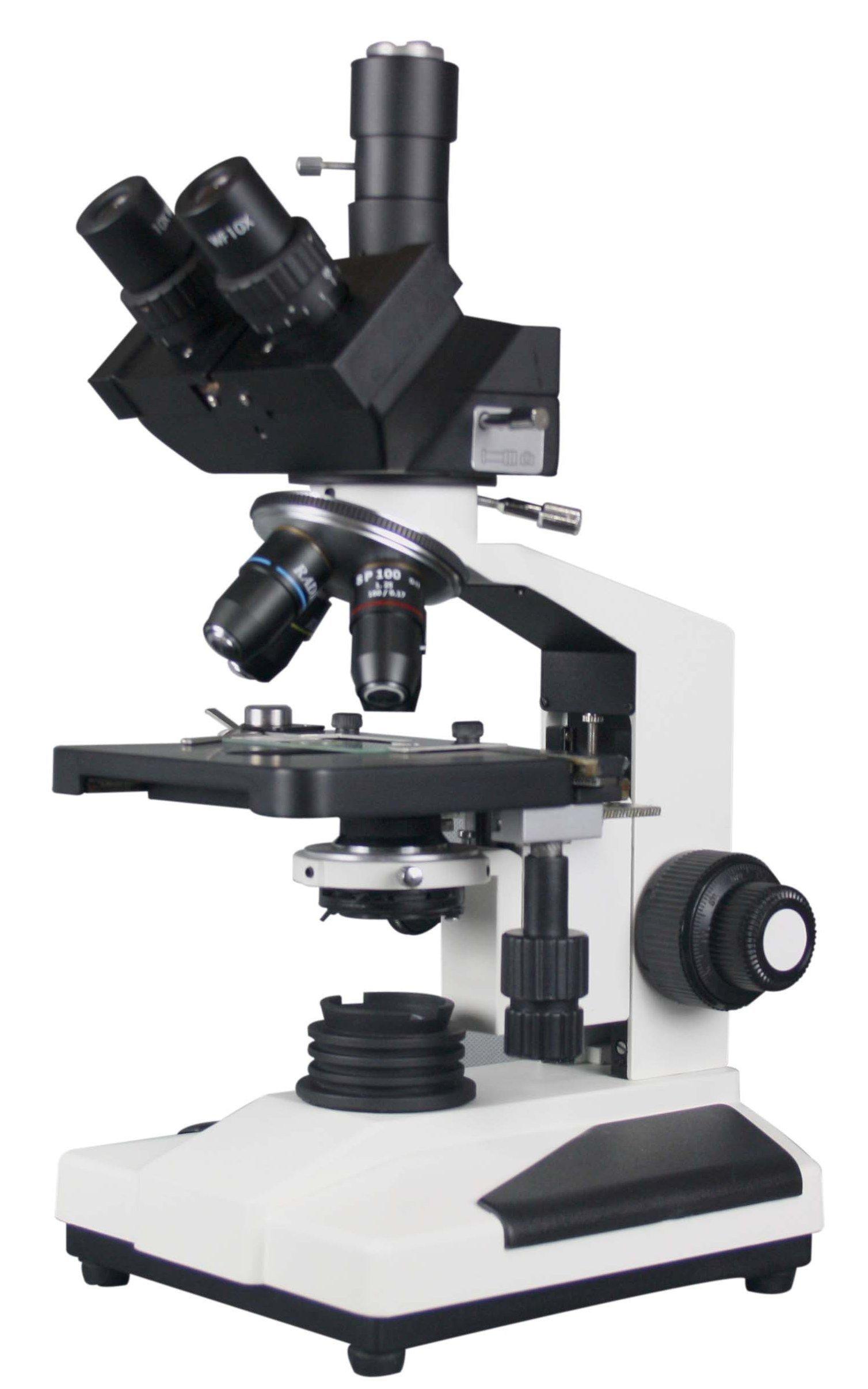 Radical 2500x Professional Quality Biology Trinocular Clinical LED Microscope SEMI PLAN Objective by Radical