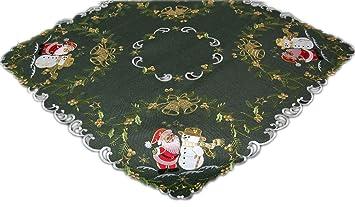 Tischdecke Weihnachten 85x85 Weihnachtsdecke Decke Mitteldecke Winter Schneemann