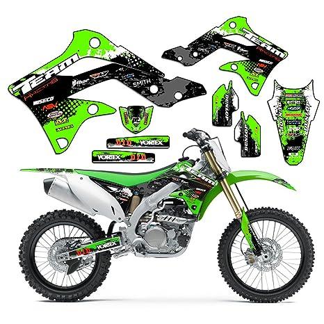 Amazon.com: Team Racing Graphics kit for 2010-2018 Kawasaki KLX 110 ...