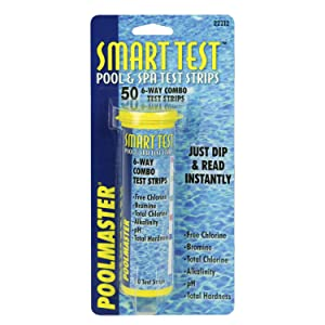 Poolmaster 22212 Smart Test 6-Way Swimming Pool and Spa Water Chemistry Test Strips