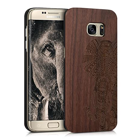 kwmobile custodia in legno per samsung galaxy s7 edge