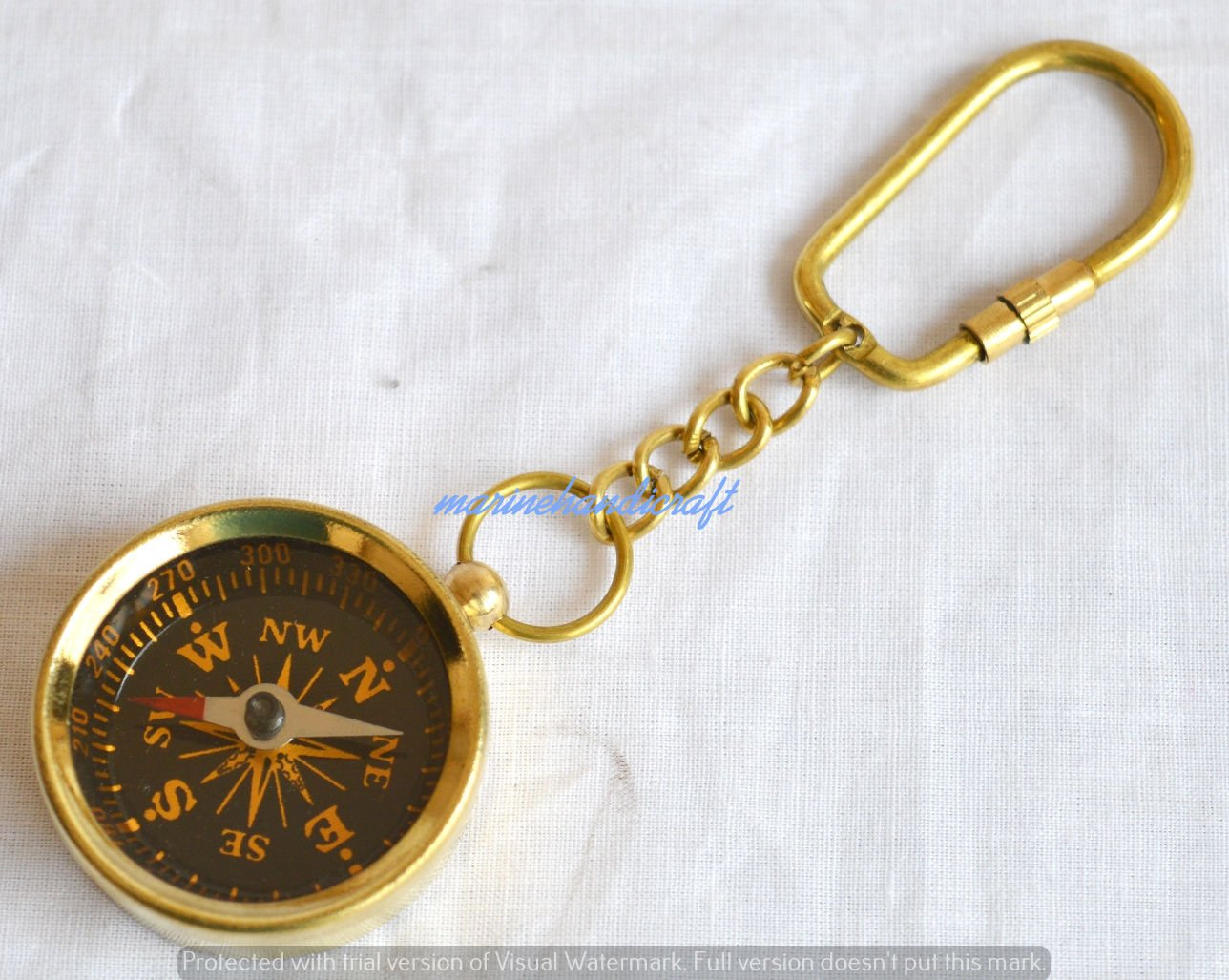 Humaira nauticalbrass Collectableポケットcompass-hiking compass-nauticalキーチェーン B075D49K7K