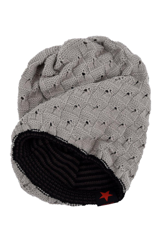 SODIAL (R) Uomo Berretto in maglia reversibile largo invernale Cappello X085 grigio chiaro SODIAL(R) 033263A4