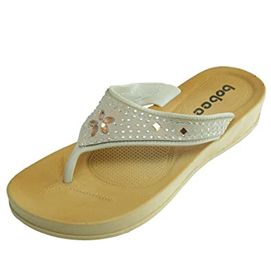 6518744647f Women s Shining Thong Slip On Summer Comfort Casual Thong Flat Flip Flops  Sandals Slipper (5
