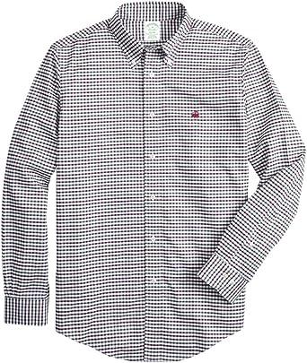 Brooks Brothers Milano Fit Windowpane - Camiseta deportiva para hombre: Amazon.es: Ropa y accesorios