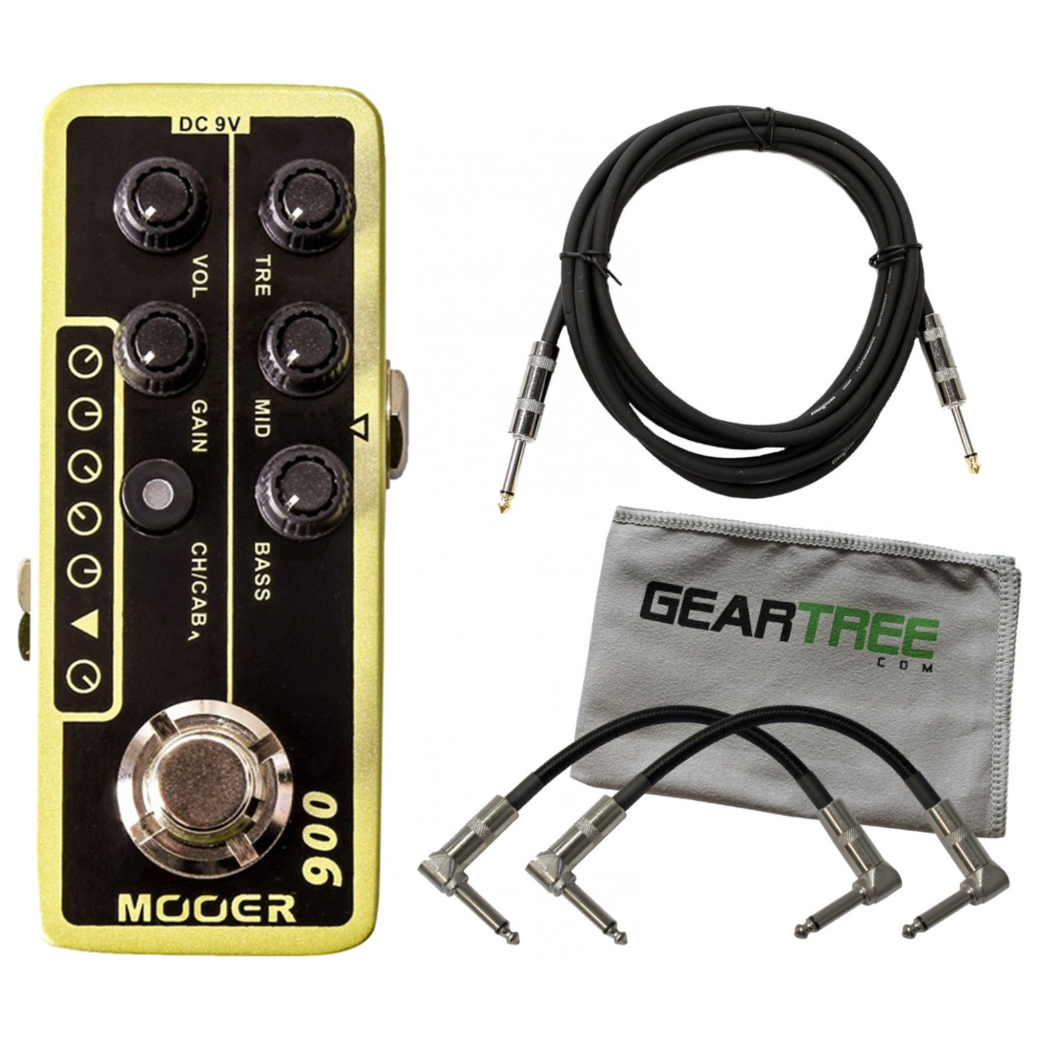 Mooer Micro Preamp 006 based on Fender blues deluxe w/3 Cables and Geartree Clo