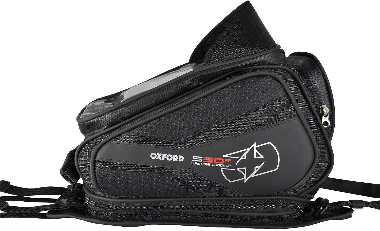 Oxford S30R 30 Liter Tanktasche zum Angurten OL345 schwarz Gep/äcknetz