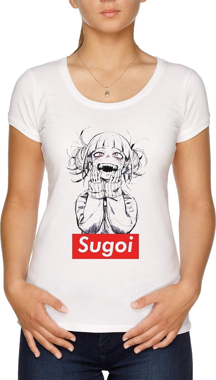 Sugoi himiko - Boku No Hero Academia Camiseta Mujer Blanco: Amazon.es: Ropa y accesorios