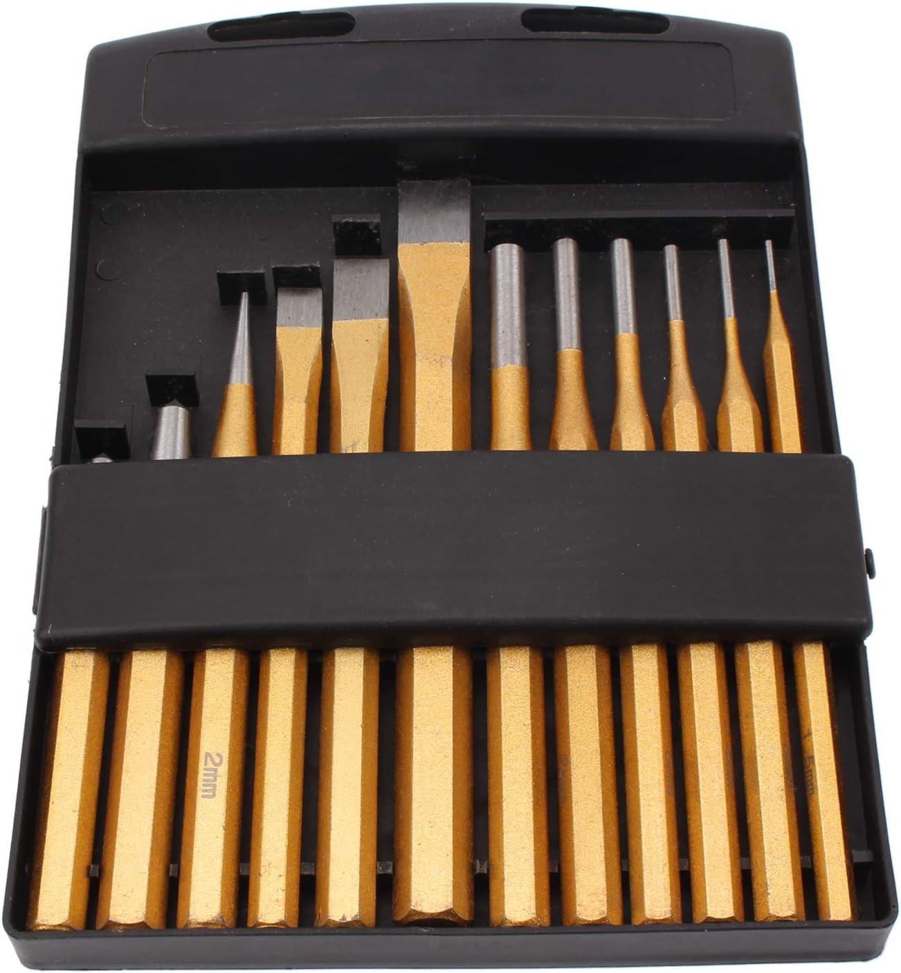 CCLIFE 12 piezas Juego de botadores//cinceles//granetes
