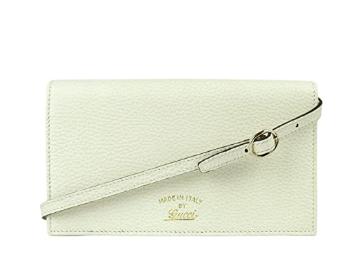 24b801dc385 Image Unavailable. Image not available for. Color  Gucci Swing Creamy White  Leather Crossbody Clutch Wallet ...