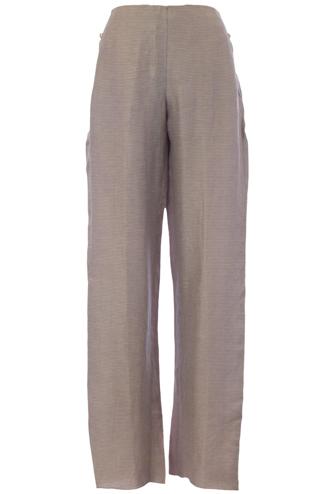 Giorgio Armani Women's Side Pocket Textured Dress Pants IT 44 Taupe