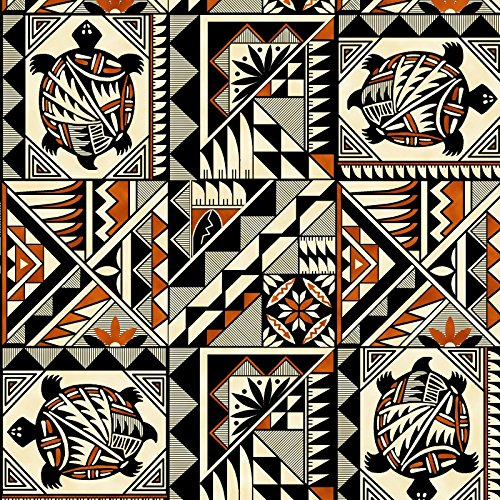 Southwestern Tucson Cotton Print Fabric in Terracotta by the yard