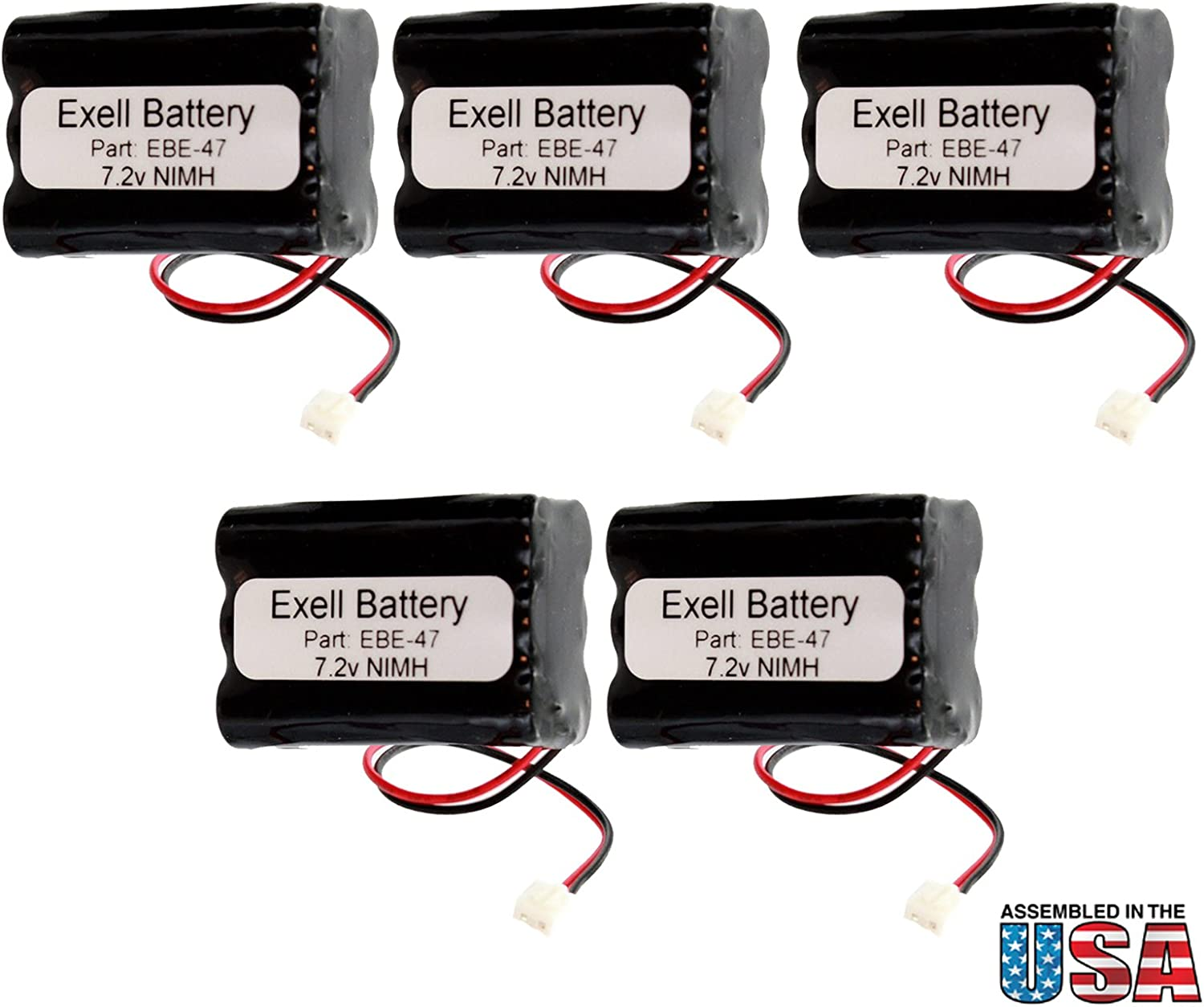 (5-Pack) Emergency/Exit Exit Sign Lighting Battery Fits and Replaces Sanyo 34051, Sanyo 6HRAAAU, Sanyo 6HRAAAU34051 Interstate ANIC0191, Iti 34-051 Fast USA Ship 71CaTtzpynLSL1500_
