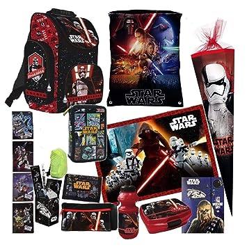 Star Wars Rucksack Federmappe Block Schulrucksack Mäppchen Tasche Darth Vader