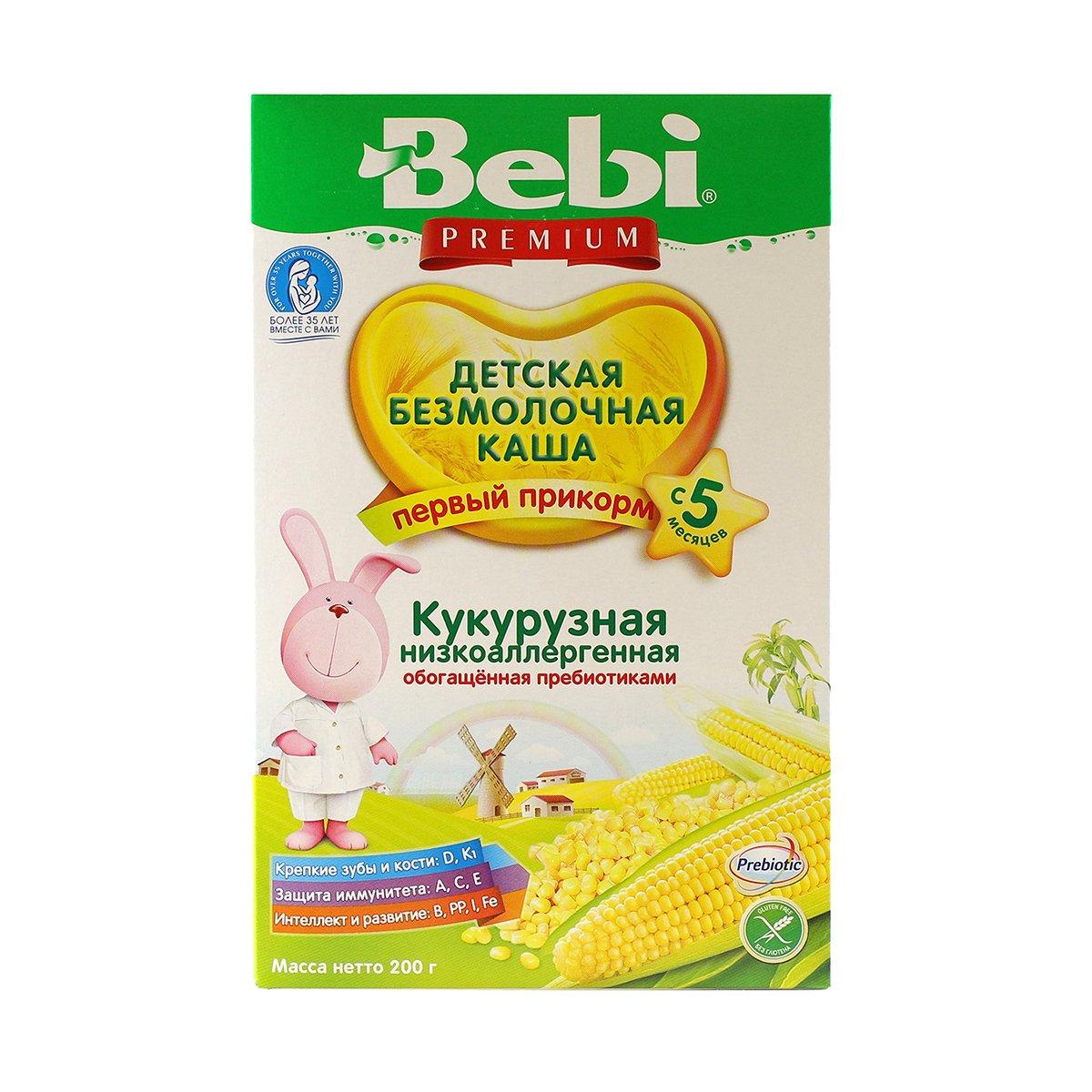 Bebi Cereal for Babies Corn No Milk 5 months 7oz/200g