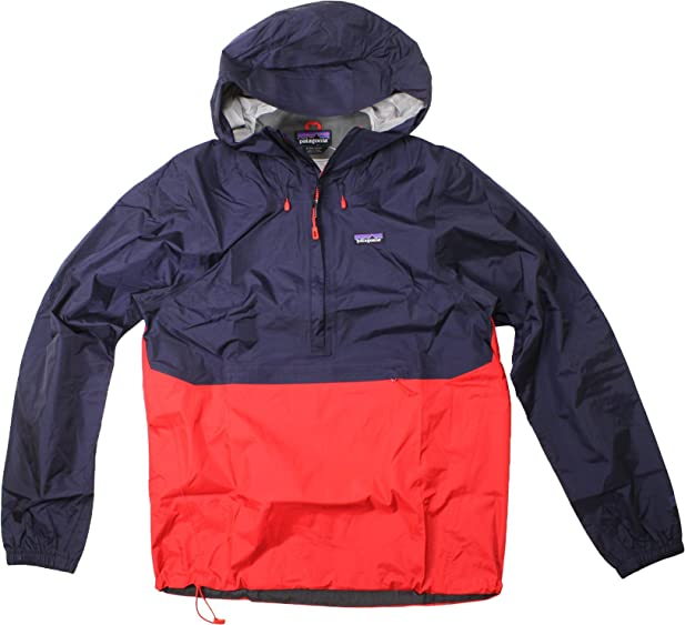 Lyst patagonia torrent shell pullover jacket in green for men.