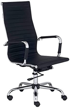 Studio 55D Serge Black High Back Swivel Office Chair