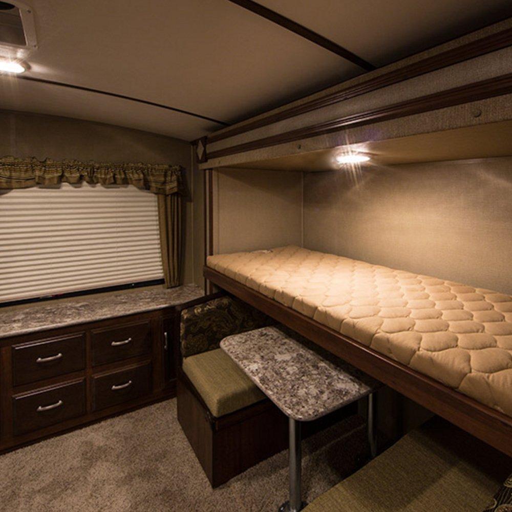 Rimorchio RV camper Kohree Set di 2 Lampade LED da 12V Plafoniere 280LM Tetttuccio Illuminazione interna per auto barca Luce Bianco naturale 280LM 24 x 5050 SMD