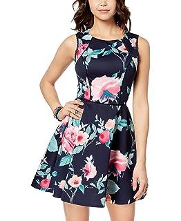 b796f104cb4329 Amazon.com: B. Darlin Womens Juniors Lace Fit & Flare Casual Dress ...