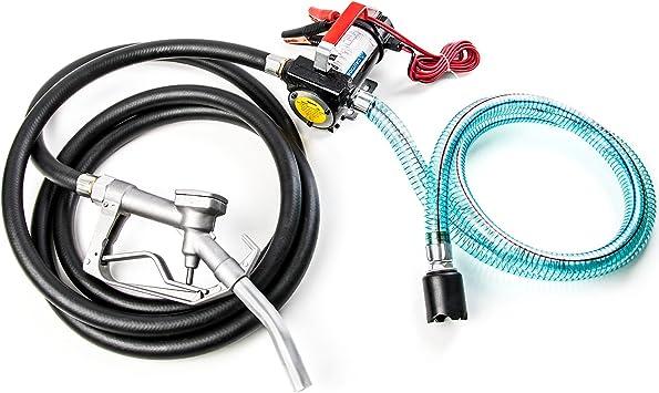 40L//min Pompe à Fuel ou Gasoil Carburant Transfert Oil Pump Électrique Mobile