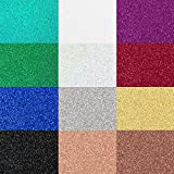 Office Products : Siser Glitter Heat Transfer Vinyl for T-Shirts, 12 Pack