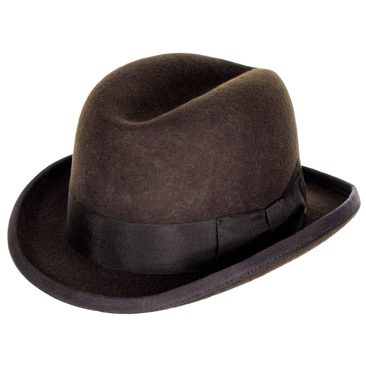 Denton Hats Churchill Homburg Dark Brown