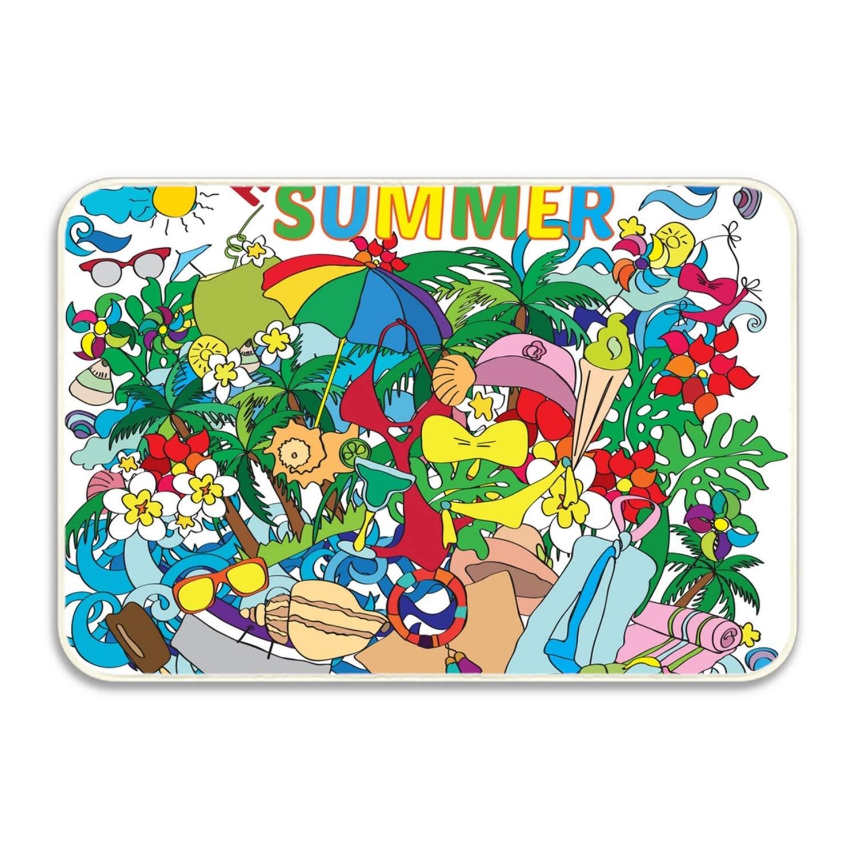 yyoungsell Mats Outdoor Patio 20x32,Hello Summer World Camping Mat