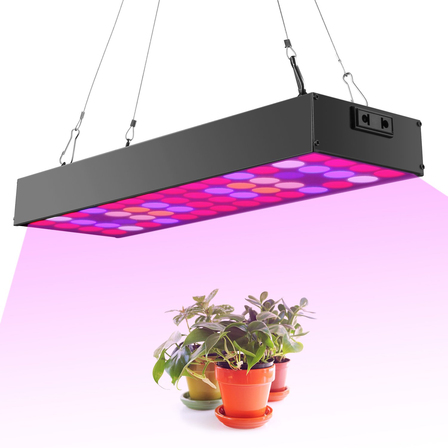 Newforshop 30W LED Grow Light kit, Full Spectrum with UV&IR for Indoor Greenhouse Plants Veg and Flower, Plants