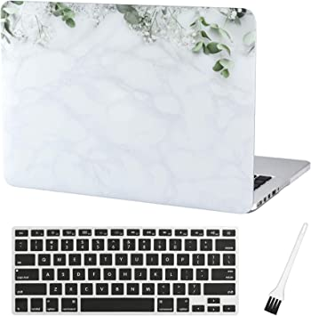 """Air 13-Inch Black Marble Rubberized Hard Case for Macbook Air 13/"""" A1369 /& A1466"""