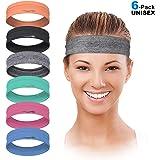 LUCKYGO Workout Headbands for Women Men, Highly Absorbent Non-Slip Sweatbands, Super Soft Stretchy Bandana Headband…