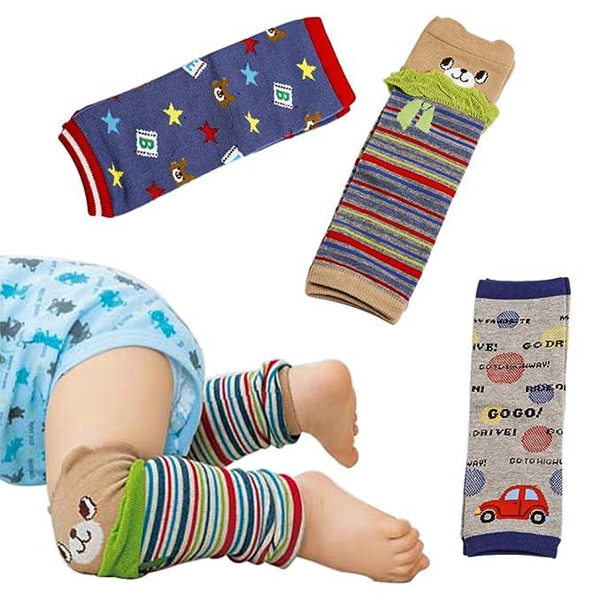 Hillento rodilleras bebé, juego de 3 bebé calentador de la pierna ...