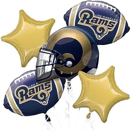 Amazon Anagram NFL Los Angeles Rams Team Colors Bouquet 5pc