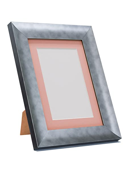 Hygge Pewter Picture Photo Frame With Pink Mount 40 x 50 cm Image ...