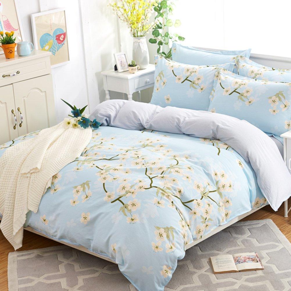 Cotton one piece cotton quilt College quilt double bed quilt cover-E 200x230cm(79x91inch)