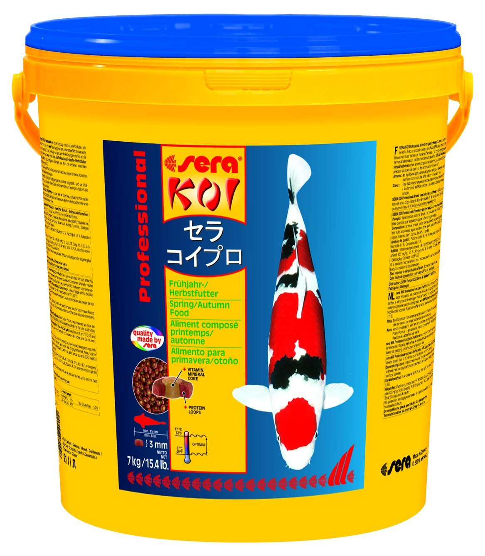 Sera KOI Professional Frühjahr-/Herbstfutter - Das leicht verdauliche Futter für Temperaturen unter 17 °C 7013