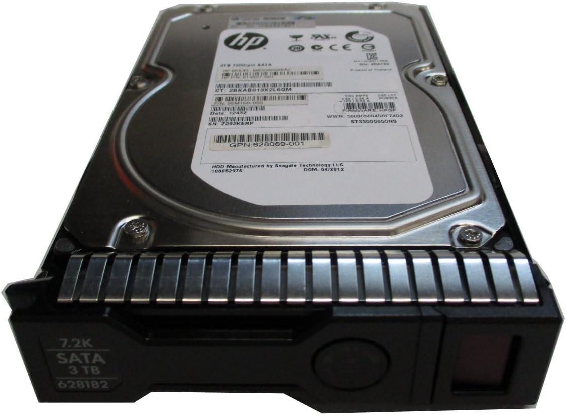 HP 3TB 6G SATA 7.2K 3.5INCH SC MIDLINE HDD 628061-B21 Renewed