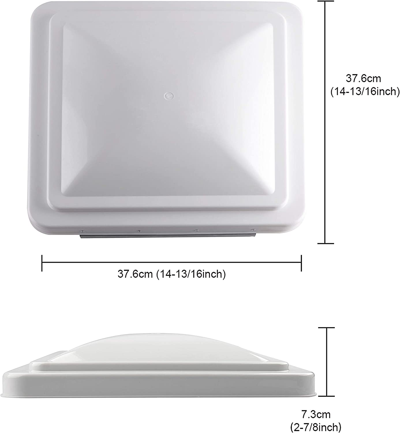 RVGUARD 14x14 RV Roof Vent Cover White Universal Replacement Vent Lid for Camper Trailer Motorhome