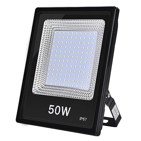 Foco LED IP67, Foco Exteriores/Interiores Foco proyector LED 20W 50W 100W Halógeno Blanco frío/Blanco cálido Floodlight Led (50W, Blanco frío)