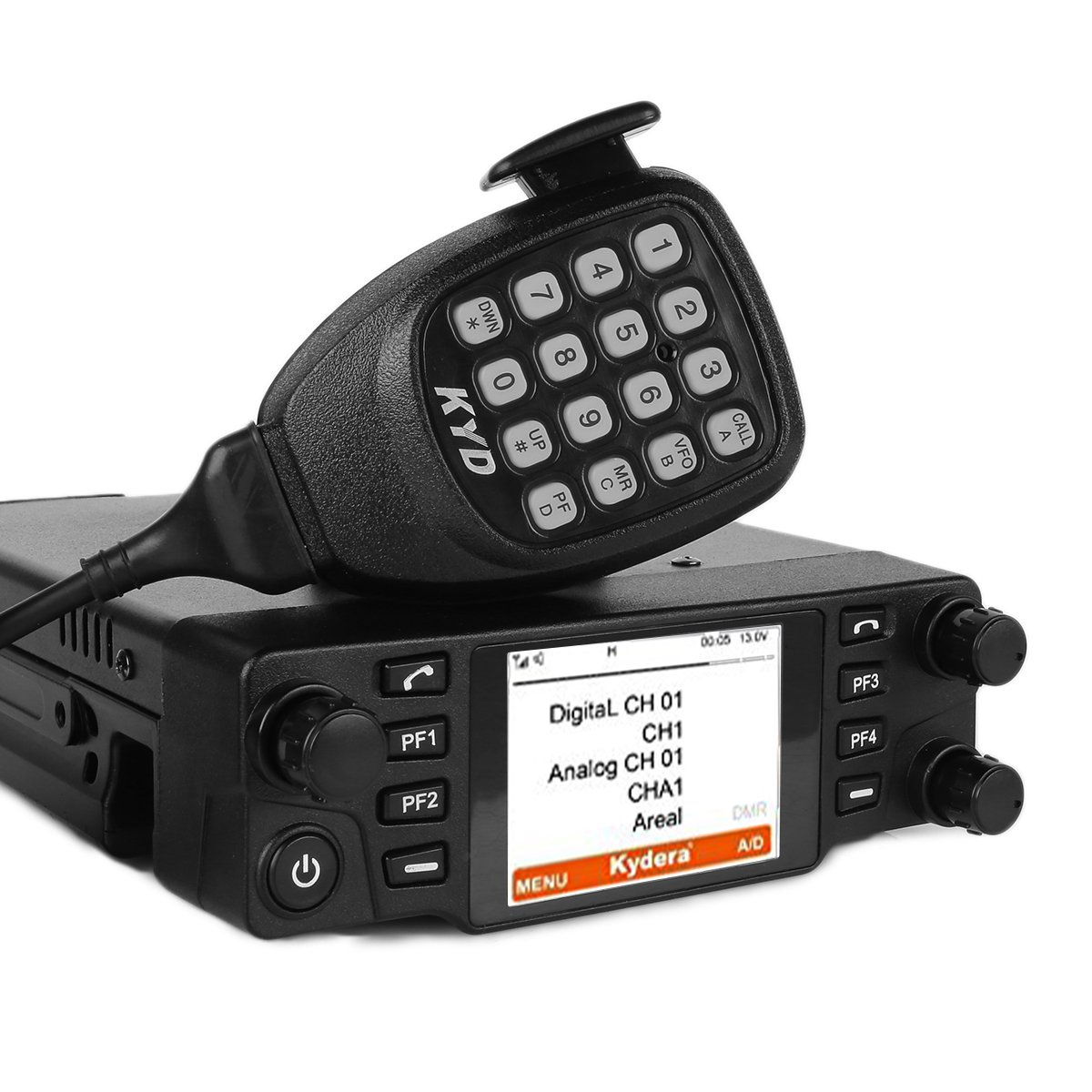 Kydera CDM-550H DMR 400-430 440-480Mhz UHF Large LCF Display 40W 25KM Digital Car Radio Ham Transceiver, with Programming Cable & Software by KYDERA (Image #6)