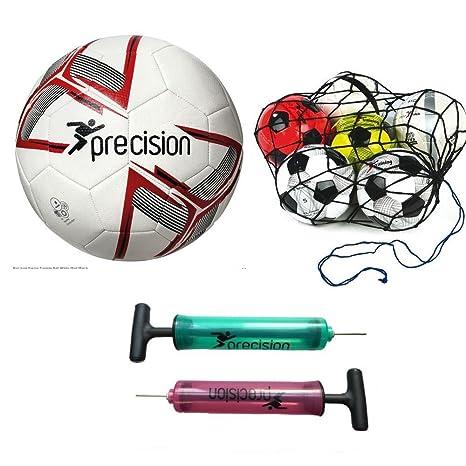 Fusión Internacional Balón blanco/rojo/negro tamaño 3 + Red de ...