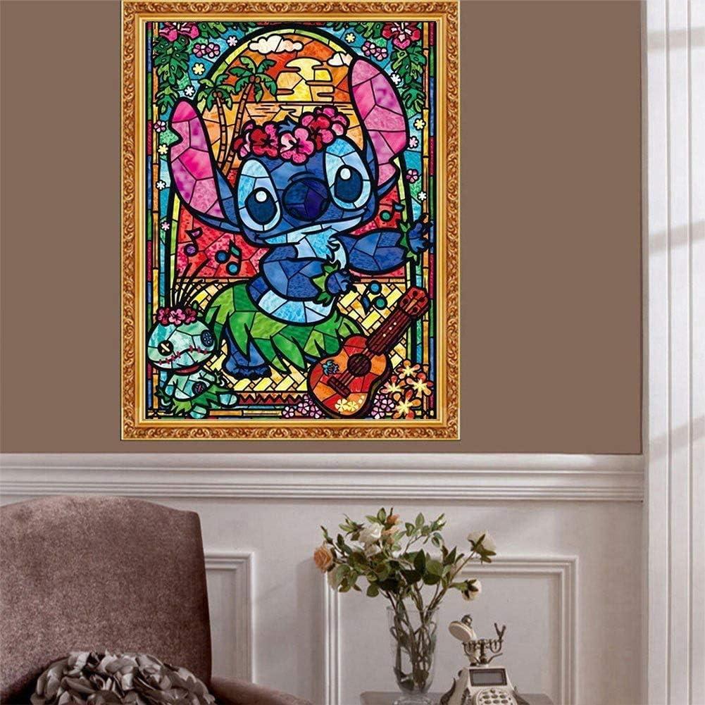 30x40cm TAIYUNWEI 2 Pack DIY Diamond Painting Kits for Kids//Adults Lovely Cartoon Stitch Rhinestone Embroidery Arts Craft Kits for Home Wall Decor 5D Diamond Painting Full Kit