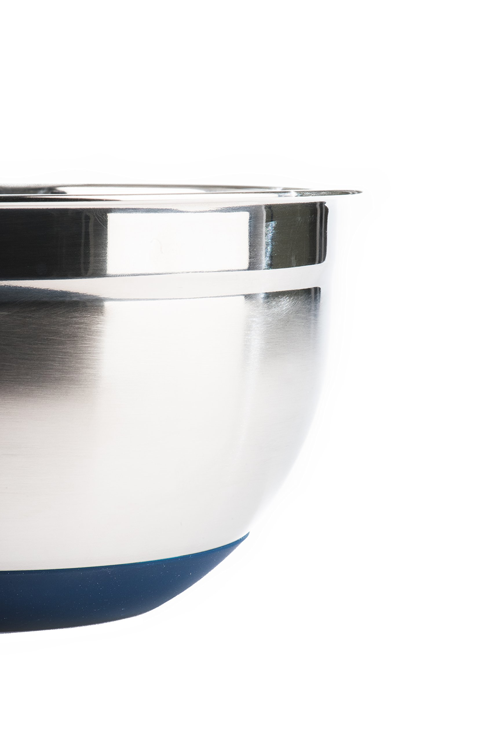 Fitzroy and Fox Non-Slip Stainless Steel Mixing Bowls with Lids, Set of 3, Blue by Fitzroy and Fox (Image #8)