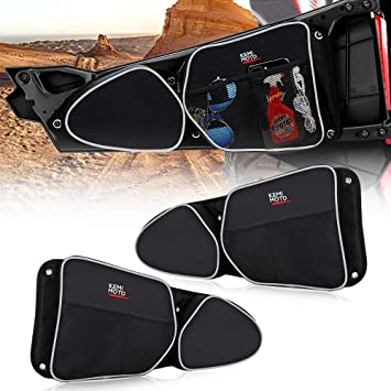 MFC Front Door Storage Bag door side bags With Knee Protection Fit for 2014-2020 UTV Polaris RZR XP Turbo Turbo S 1000 S900 Passenger Side And Driver Side