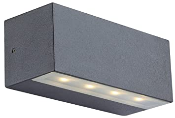 Plafoniera Globo Lighting : Globo ip44 led noam aluminium glass outdoor wall light: amazon.co.uk