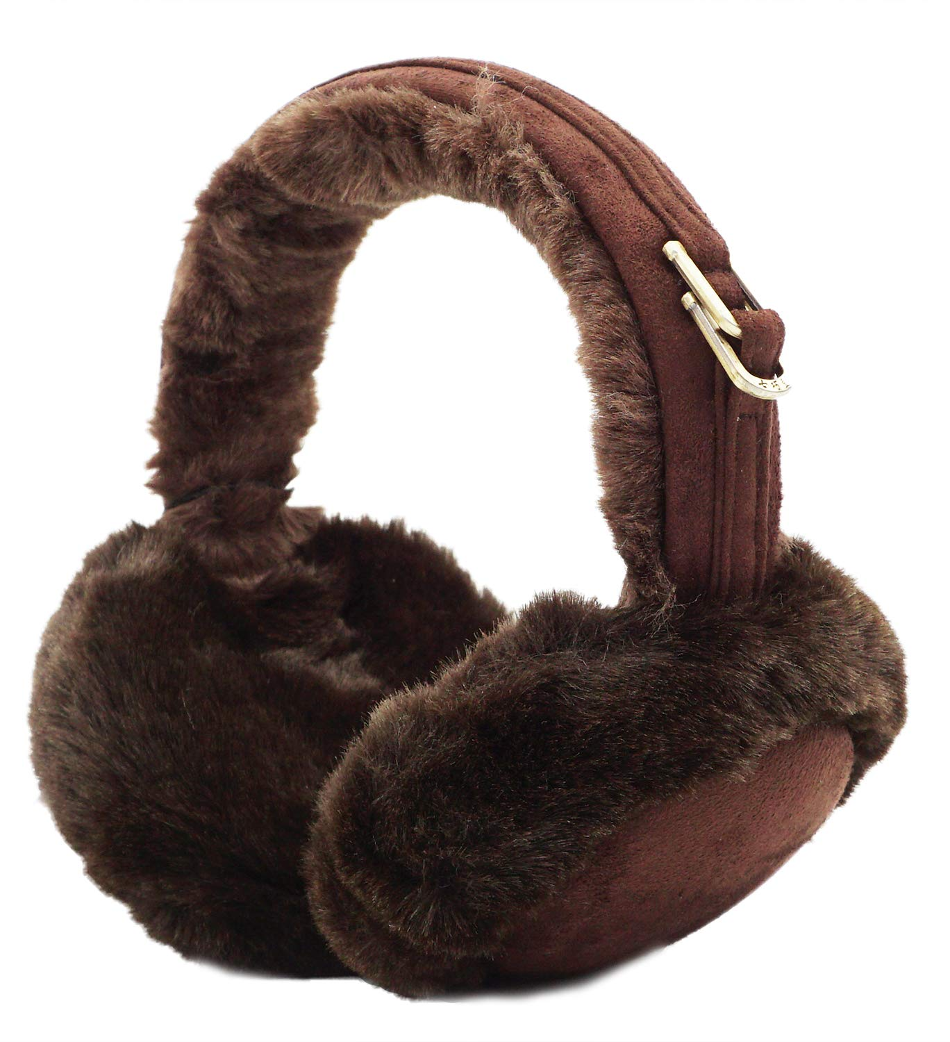 Lovful Womens Ladies Knit Earmuffs Winter Cold Weather Snow Outdoor Ear Protection, Coffee