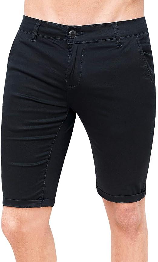 Bermuda Uomo Cotone Slim Fit Jeans Pantalone Corto Shorts Pantaloncini Casual