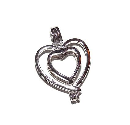 Amazon heart love sterling silver pearl cage pendant old heart love sterling silver pearl cage pendant old school geekery tm brand jewelry making supplies aloadofball Gallery