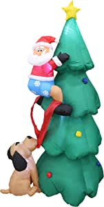 AstiVita Inflatable Christmas Tree 1.8m - with Santa Claus
