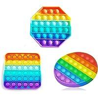 3pcs Push Pop Bubble Sensory Fidget Toy, Pop It Figit Toy Fidget Toys Autism Special Needs Stress Reliever, Special…